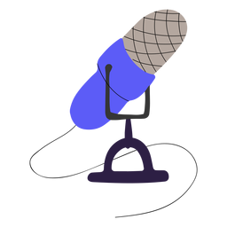 Podcast mic illustration