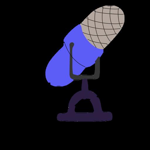 Ilustración de micrófono de podcast