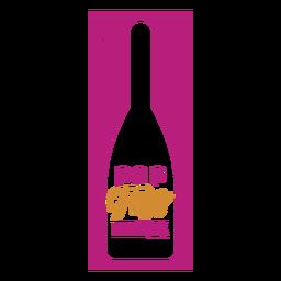 Rótulo de vinho tinido pop fizz