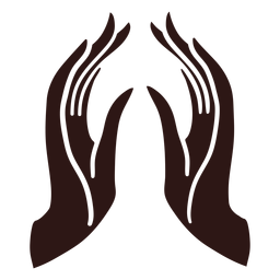 Orando manos negras