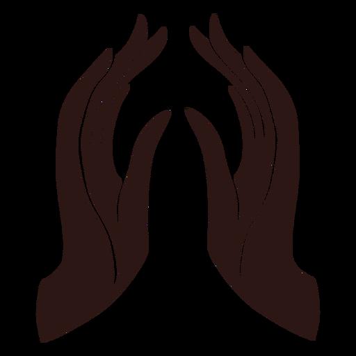 Manos rezando negras