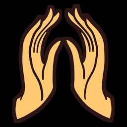Ilustración de manos rezando