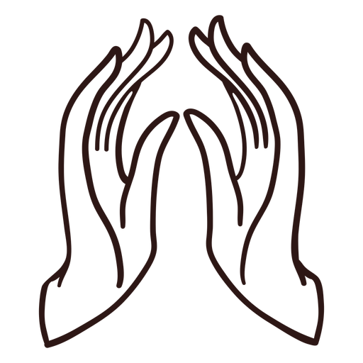 Praying hands stroke Transparent PNG