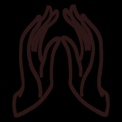 Praying hands stroke
