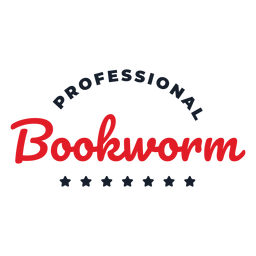 Professional bookworm lettering