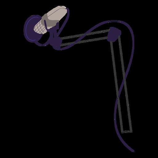 Professional studio mic illustration