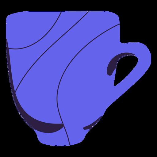 Purple coffee mug hand drawn
