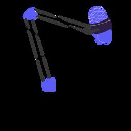 Ilustración de micrófono profesional de estudio púrpura