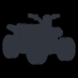 Silhueta de moto-quatro
