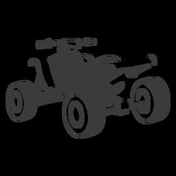 Transporte quad quad negro