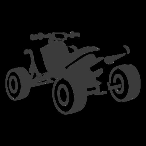 Quad bike transport black Transparent PNG