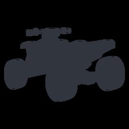Silhueta de transporte de moto-quatro