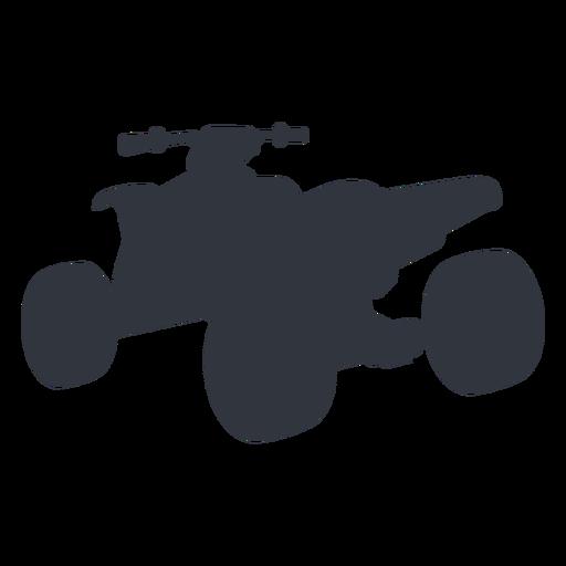 Silueta de transporte en quad