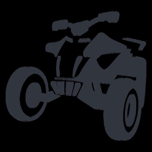 Racing quad bike black Transparent PNG