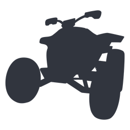 Silhueta de moto-quatro de corrida