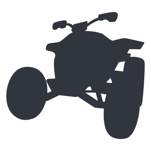Racing quad bike silhouette Transparent PNG