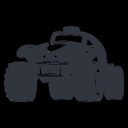 Rallye-Auto schwarz