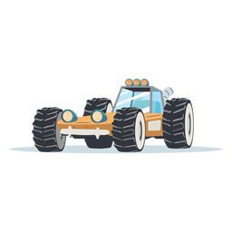 Rally buggy illustration rally