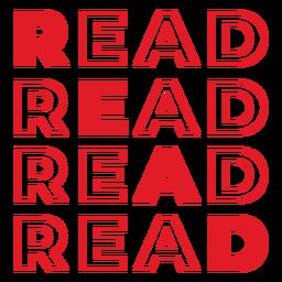 Lesen Sie die rote Schrift