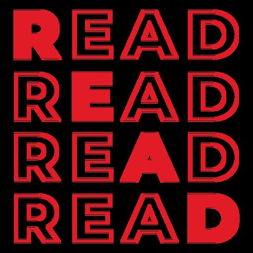 Leer letras rojas