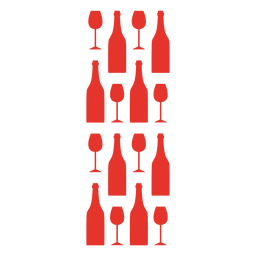Copo de vinho tinto e padrão de garrafa