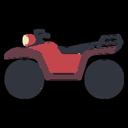 Plano de atv de transporte rojo