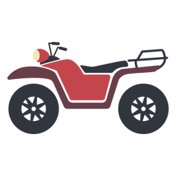 Red transport atv flat