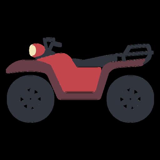 Red transport atv flat