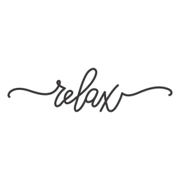 Relax cursive lettering