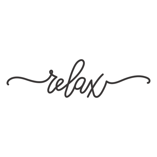 Relaxe letras cursivas