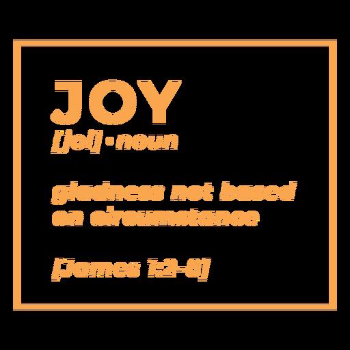 Religious definition joy lettering Transparent PNG