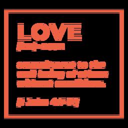 Definición religiosa letras de amor