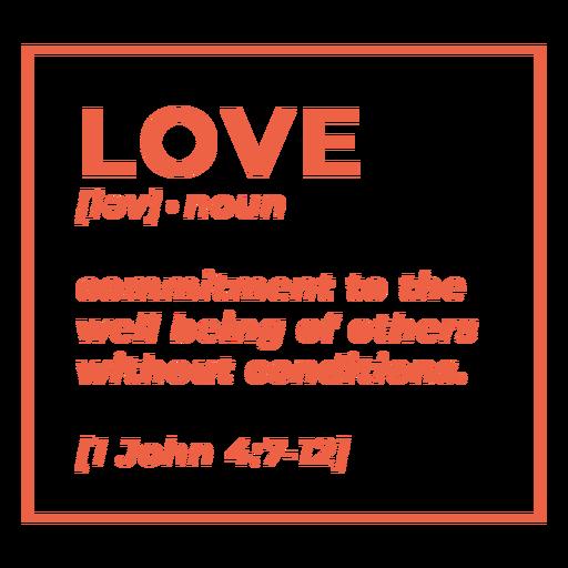 Letras de amor de definición religiosa