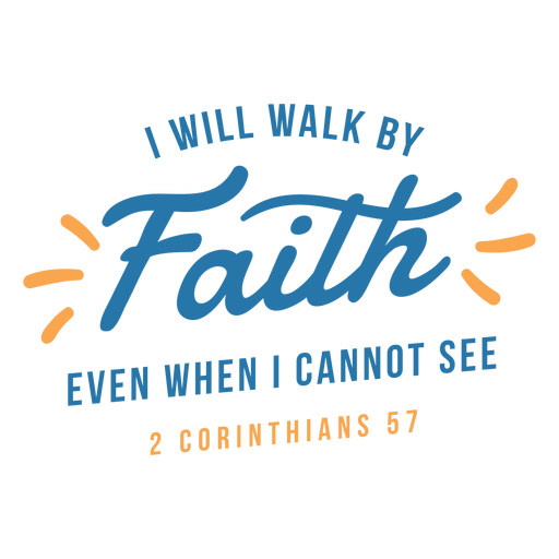Religious quote lettering Transparent PNG