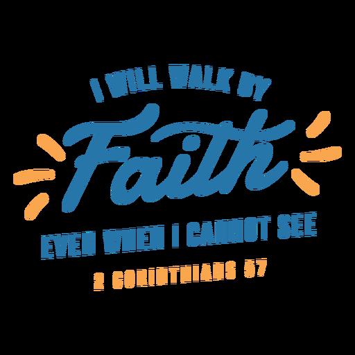 Religious quote lettering