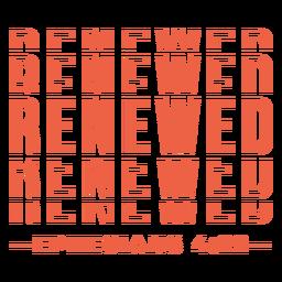 Renewed religious lettering