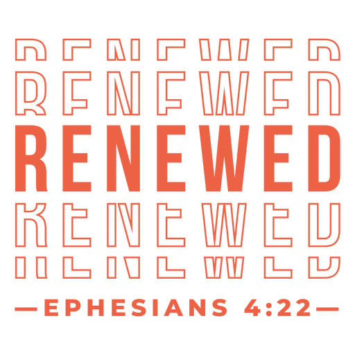 Renewed religious lettering Transparent PNG
