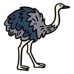 Dibujado a mano animal Rhea