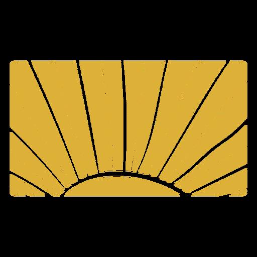 Rising sun pattern Transparent PNG