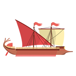 Roman ship illustration