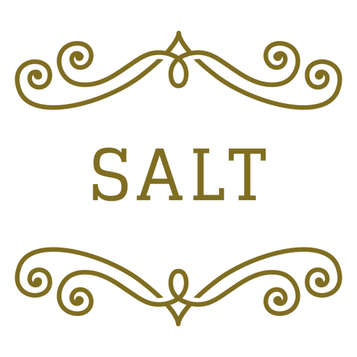 Etiqueta de remolinos de sal