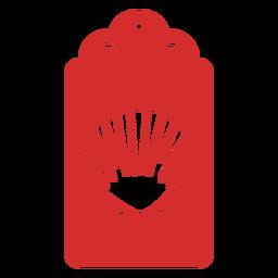 Sea shell papercut tag
