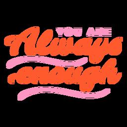 Selfcare motivation lettering