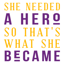 She the hero lettering