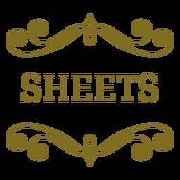 Sheets swirls label
