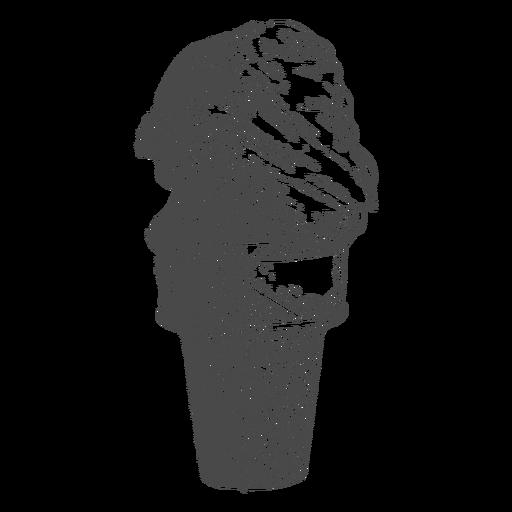 Dibujado a mano pequeño cono de helado