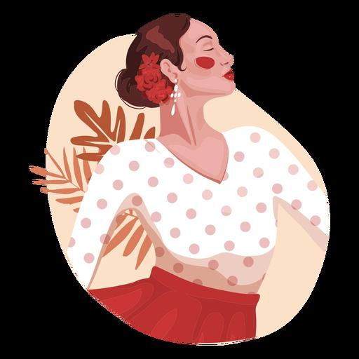 Personagem realista de mulher espanhola