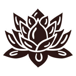 Flor de loto espiritual negra