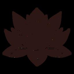 Spiritual lotus flower black