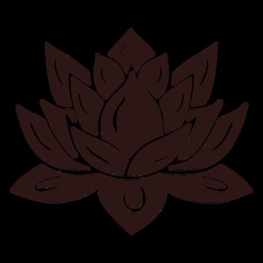 Flor de loto espiritual negro